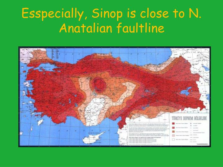 Esspecially, Sinop is close to N. Anatalian faultline