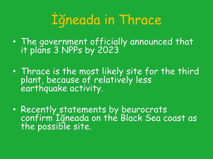 İğneada in Thrace
