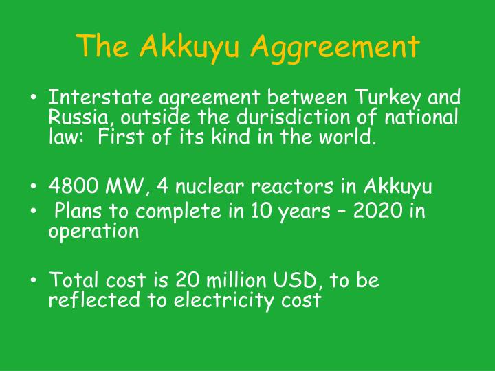 The Akkuyu Aggreement