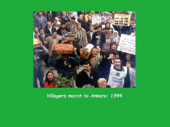 Villagers march to Ankara: 1994