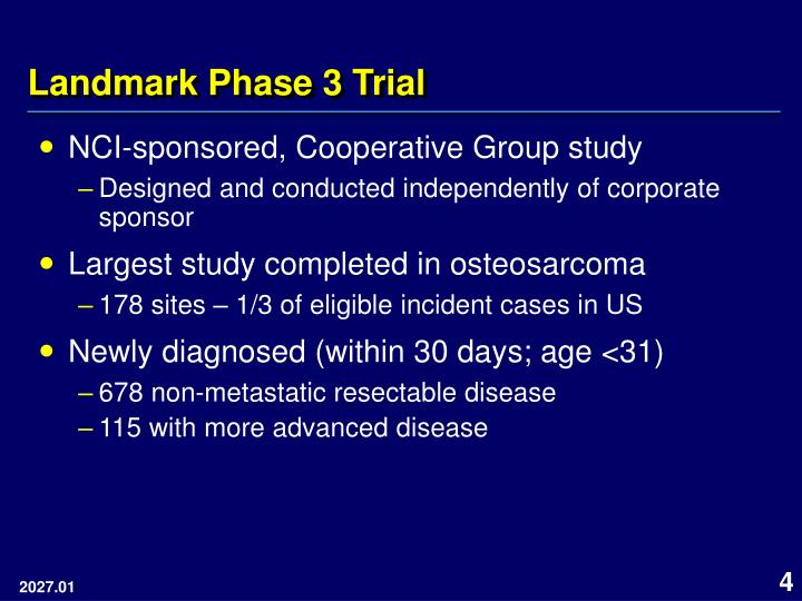 Landmark Phase 3 Trial