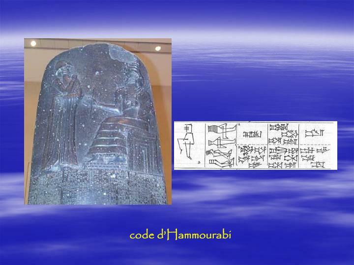 code d'Hammourabi