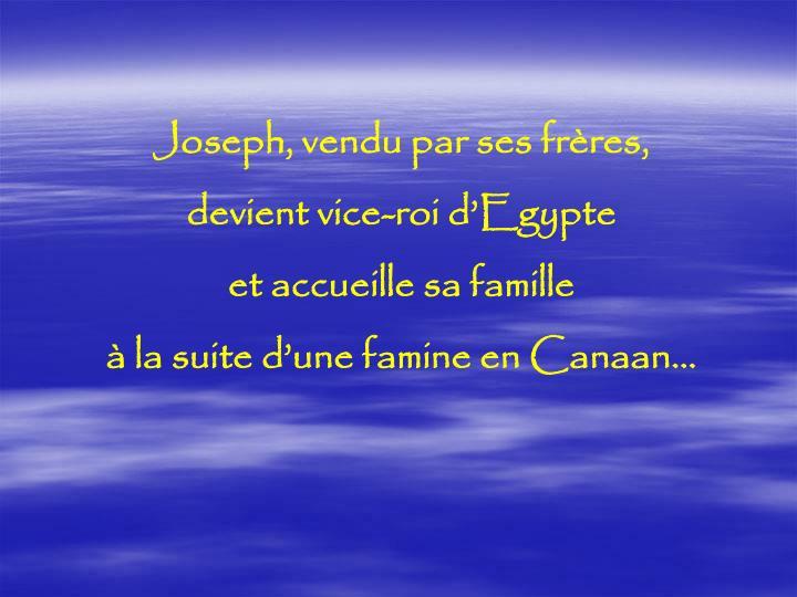 Joseph, vendu par ses frères,