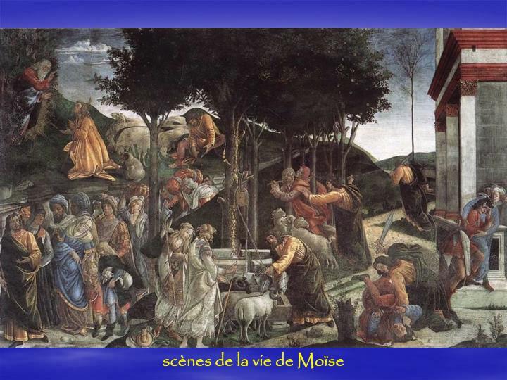 scènes de la vie de Moïse