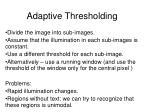adaptive thresholding