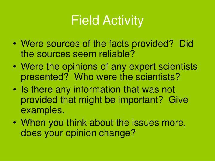 Field Activity