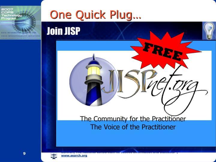 One Quick Plug…