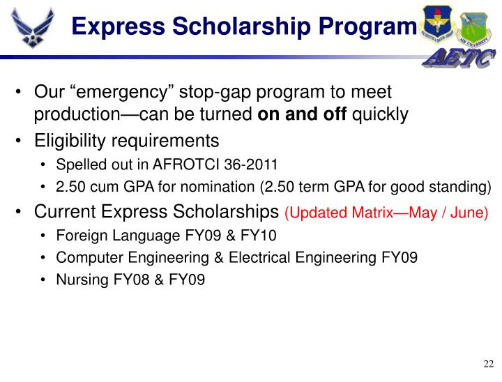 Express Scholarship Program