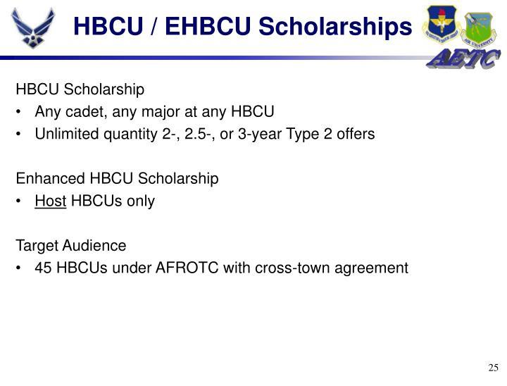 HBCU / EHBCU Scholarships