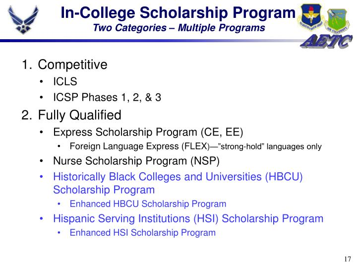 In-College Scholarship Program