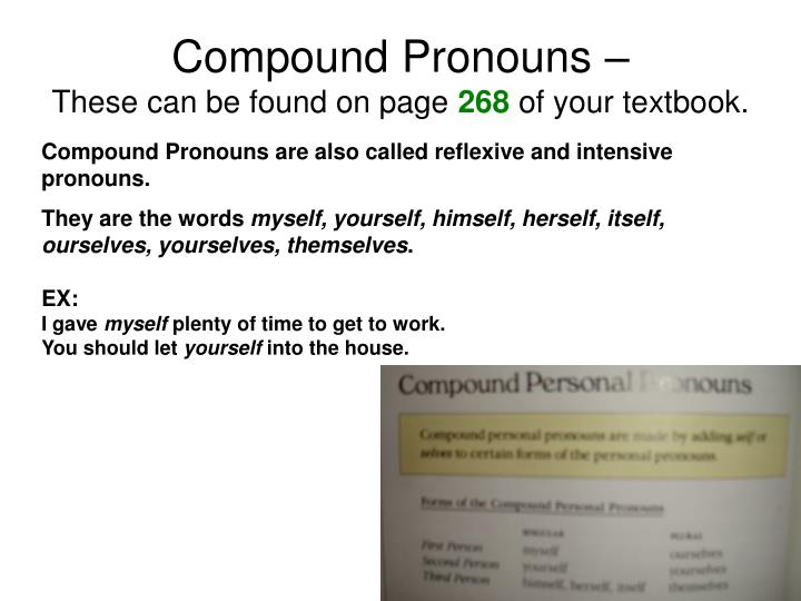 Compound Pronouns –