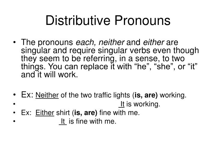 Distributive Pronouns