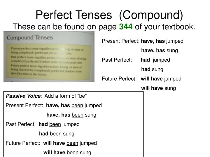 Perfect Tenses  (Compound)