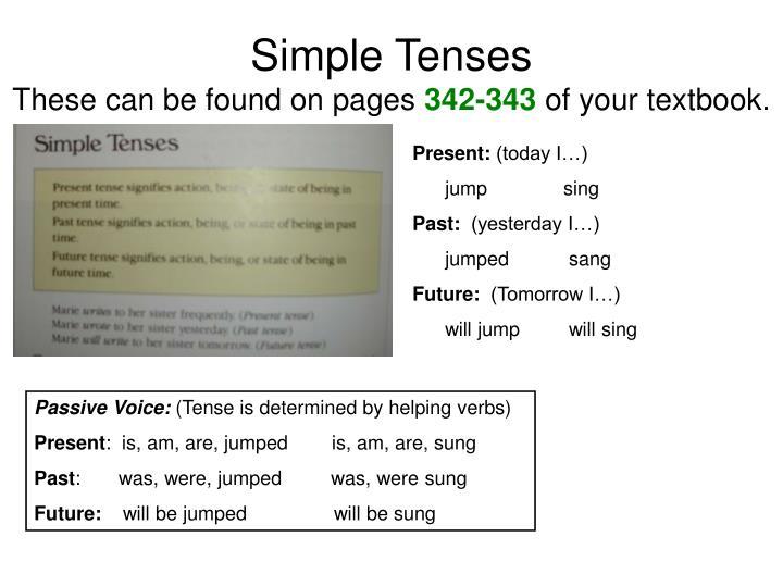 Simple Tenses