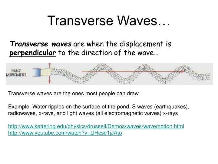 Transverse Waves…