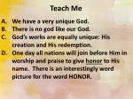 teach me2