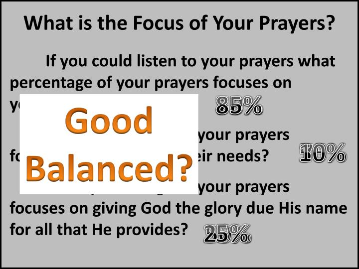 What is the Focus of Your Prayers?