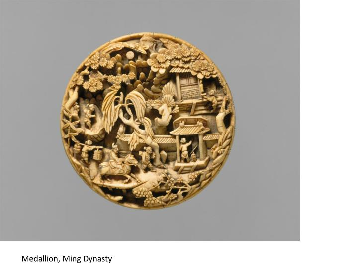 Medallion, Ming Dynasty