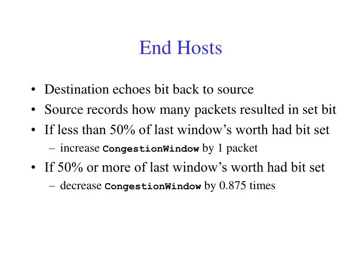 End Hosts