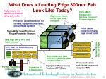 what does a leading edge 300mm fab look like today
