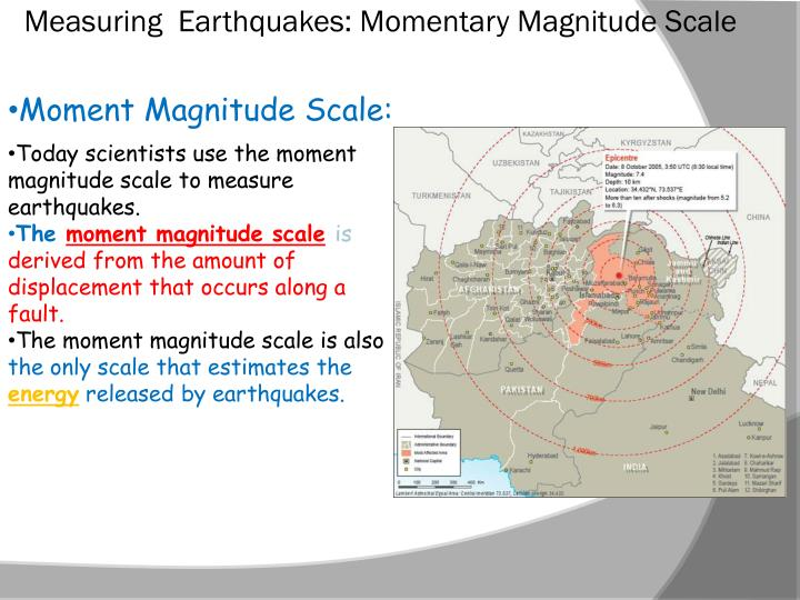 Measuring  Earthquakes: Momentary Magnitude Scale