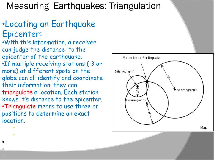 Measuring  Earthquakes: Triangulation