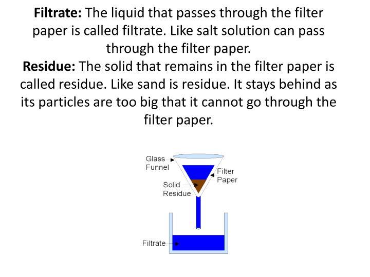 Filtrate: