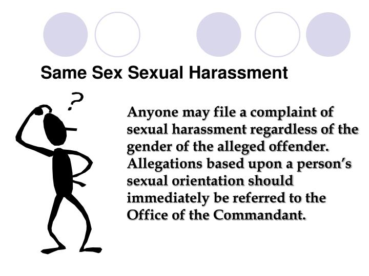 Same Sex Sexual Harassment