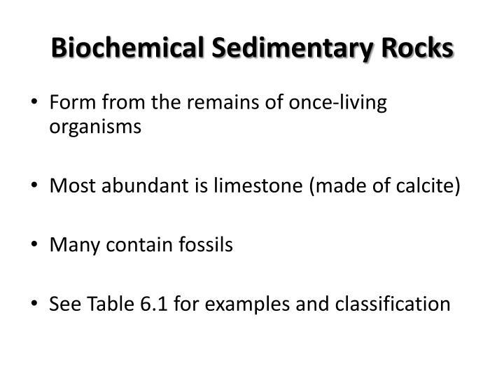 Biochemical Sedimentary Rocks