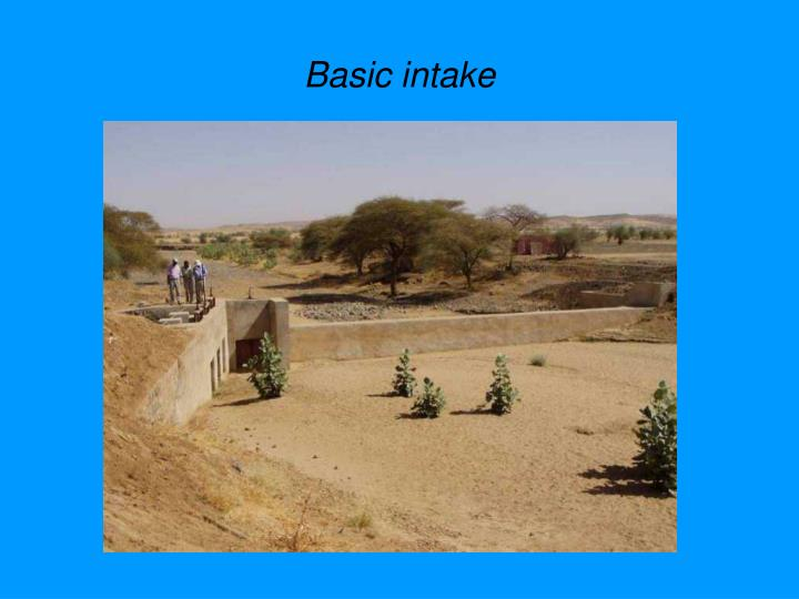 Basic intake