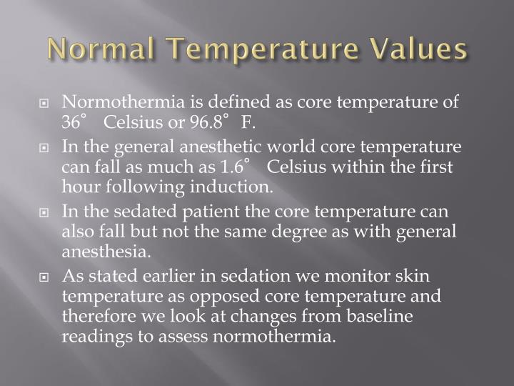 Normal Temperature