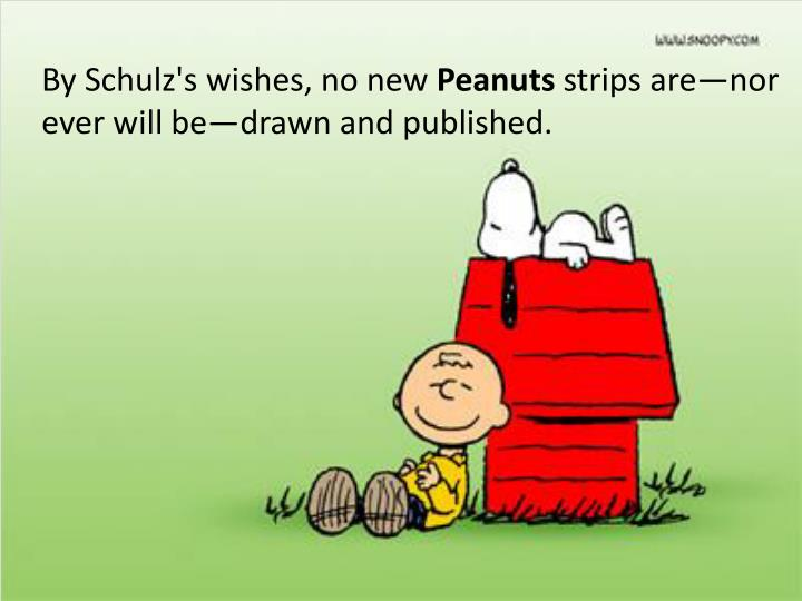 By Schulz's wishes, no new