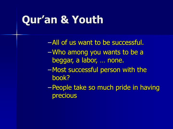 Qur'an & Youth
