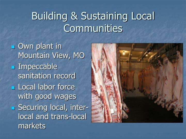 Building & Sustaining Local Communities