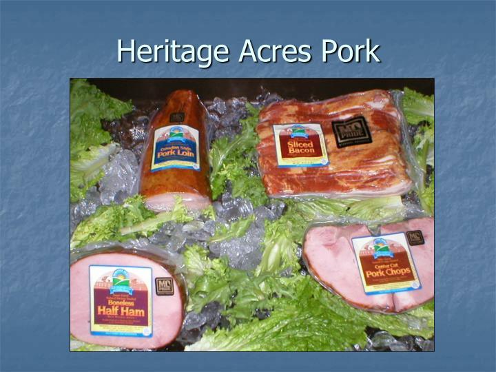 Heritage Acres Pork