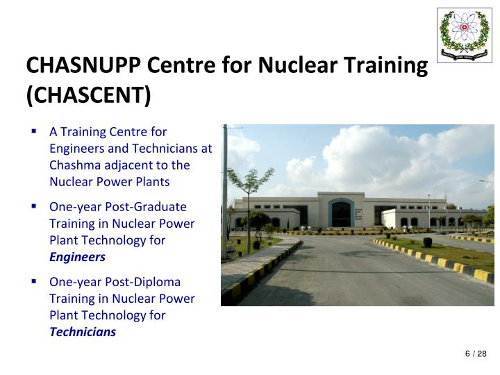 CHASNUPP Centre for Nuclear Training (CHASCENT)