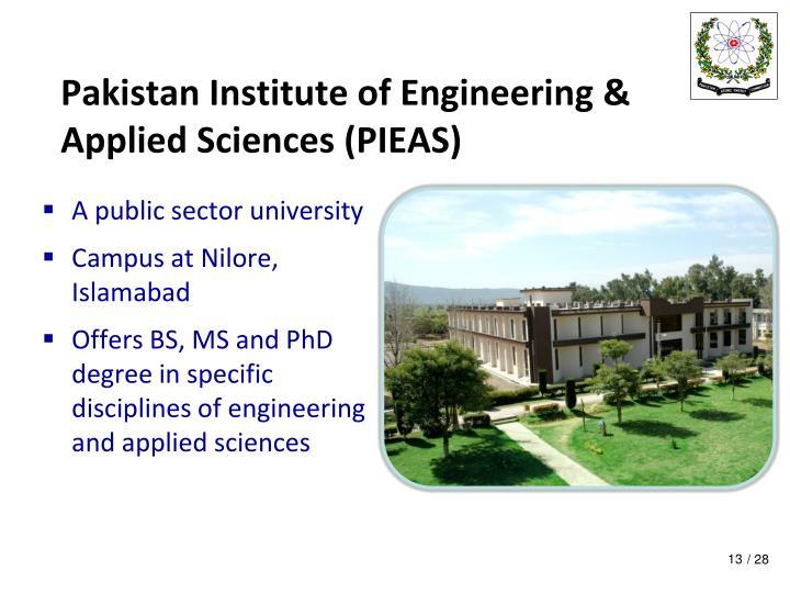Pakistan Institute of Engineering & Applied Sciences (PIEAS)