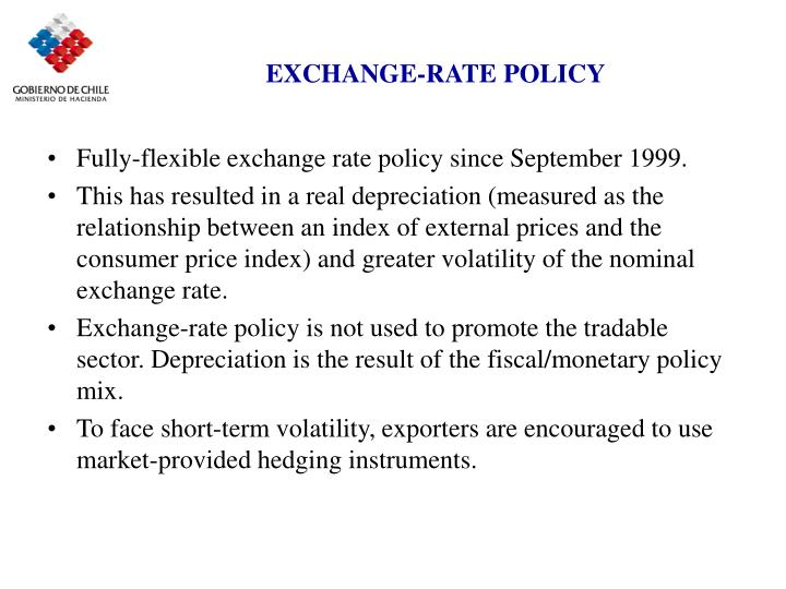 EXCHANGE-RATE POLICY