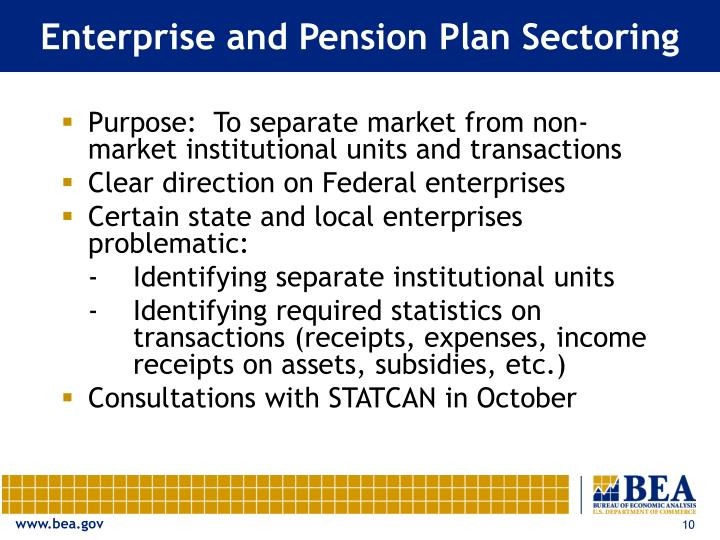 Enterprise and Pension Plan Sectoring