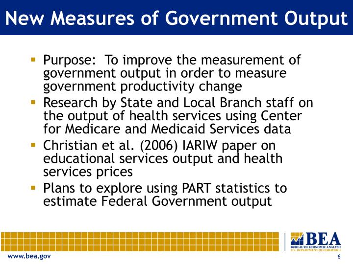 New Measures of Government Output