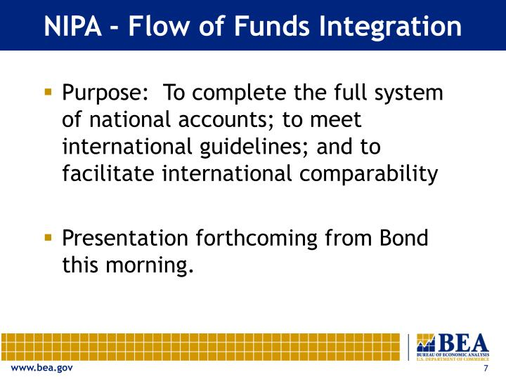 NIPA - Flow of Funds Integration