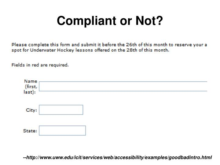 Compliant or Not?