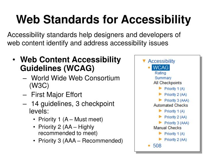 Web Standards for Accessibility