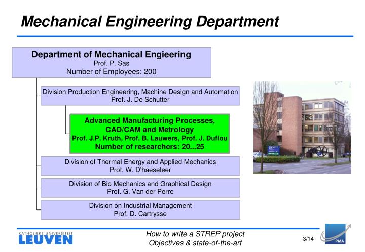 Mechanical engineering department