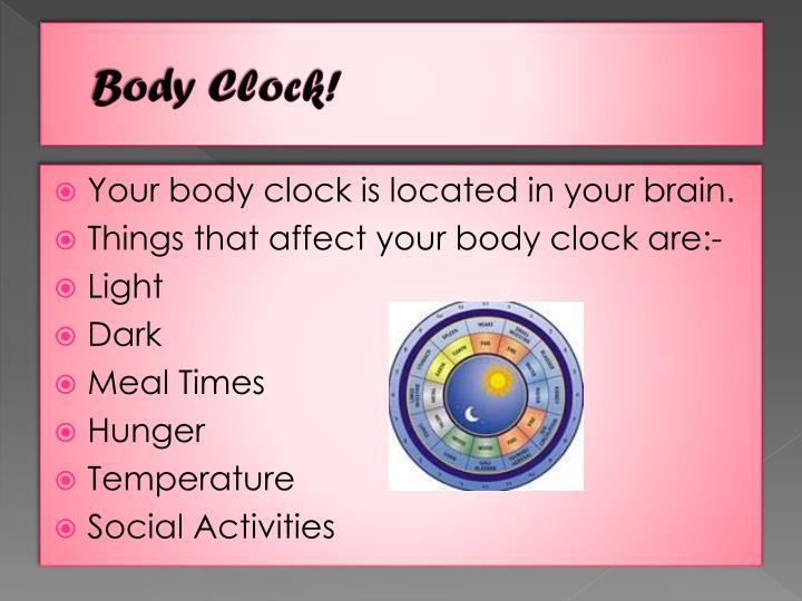 Body Clock!