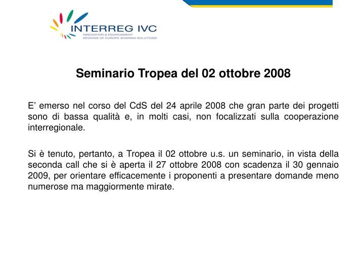 Seminario Tropea del 02 ottobre 2008