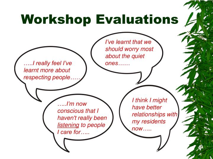 Workshop Evaluations