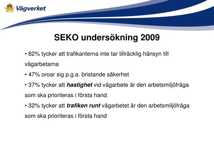 SEKO undersökning 2009