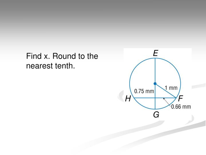 Find x. Round to the nearest tenth.