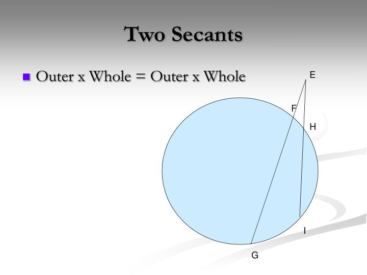 Two Secants